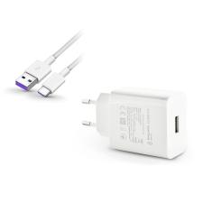 Huawei Huawei gyári USB hálózati töltő adapter+Type-C adatkábel - 5V/2A-9V/5A - HW-100400E00 + AP71 white (ECO csomagolás) kábel és adapter