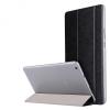 Huawei Mediapad M3 Lite 8.0, mappa tok, Trifold, átlátszó hátlap, fekete
