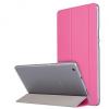 Huawei Mediapad M3 Lite 8.0, mappa tok, Trifold, átlátszó hátlap, rózsaszín