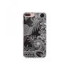 Huawei P10, TPU szilikon tok, rajzolt erdő minta, TrendLine, fekete/fehér
