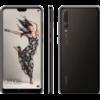 Huawei P20 fekete szilikon tok