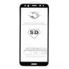 Huawei P20 Lite, Kijelzővédő fólia, ütésálló fólia (az íves részre is!), Tempered Glass (edzett üveg), fekete