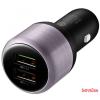Huawei QuickCharge szivargyújtó,2 USB,Type-C kábel
