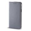 Huawei Smart magnet Huawei Ascend P8 lite oldalra nyíló mágneses könyv tok szilikon belsővel szürke