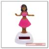 Hula napelemes táncoló figura, rózsaszín
