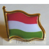 Hunbolt Arany szélű patentos zászló jelvény 20x20 mm