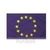Hunbolt Európa zászló Hurkolt poliészter nyomott mintás kültéri zászló. 15x25cm