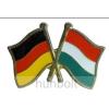 Hunbolt Kitűző, páros zászló Német -Magyar jelvény 26x15 mm