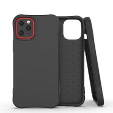 Hurtel Fekete iPhone 12 / 12 pro szilikon tok +üvegfólia tok és táska