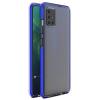Hurtel Spring tok világos TPU gél védőburkolat színes kerettel Xiaomi redmi 10X 4G / Xiaomi redmi Note 9 kék telefontok