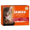 IAMS Cat Delights LAND& SEA IN GRAVY multipack, többféle íz, ízletes szószban 12x85g
