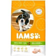 IAMS Dog Puppy & Junior Small & Medium Chicken 3kg kutyaeledel