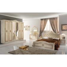 IB Luisa olasz hálószoba bézs színben, 6 ajtós szekrénnyel és 160 cm-es ággyal ágy és ágykellék