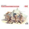 ICM French Armoured Vechile Crew (1940) figura makett ICM 35615