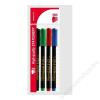 ICO Alkoholos marker készlet, CD/DVD, ICO, 4 különböző szín (TICCDV4)