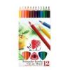 """ICO Színes ceruza készlet, háromszögletű, vastag, ICO \""""Süni\"""", 12 különböző szín [12 db]"""