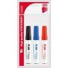 """ICO Tábla- és flipchart marker készlet, 1-3 mm, kúpos, ICO """"Plan"""", 3 különböző szín"""