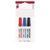 """ICO Tábla- és flipchart marker készlet, 1-3 mm, kúpos, ICO \""""Plan\"""", 3 különböző szín [3 db]"""
