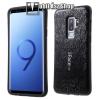 Iface műanyag védő tok / hátlap - MOZAIK MINTÁS - FEKETE - szilikon betétes - SAMSUNG SM-G965 Galaxy S9+