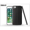 IMAK Apple iPhone 7 hátlap képernyővédő fóliával - IMAK Vega Leather - fekete