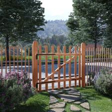 Impregnált mogyorófa deszka-kerítéskapu 100 x 90 cm kerti dekoráció