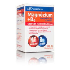 InnoPharm Magnézium-laktát + B6-vitamin filmtabletta, 100 db gyógyhatású készítmény