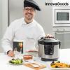 InnovaGoods Smart InnovaGoods 4 L 800W Fekete Acél Többfunkciós Konyhai Robot Szakácskönyvvel