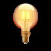 INNR LED lámpa , égő , INNR , izzószálas hatás , filament , E27 , G105 , 4.2 Watt , borostyán...