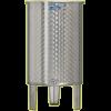 Inox 200 l-es bortartály, úszófedeles, paraffinos, 1 csappal (Zottel) (10476)