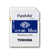 Integral Toshiba SDHC 16GB FlashAir Wireless Wifi Card; (Read/Write 90/70Mb/s)