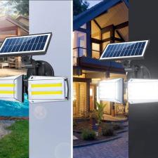 Intelligens napelemes COB LED lámpa mozgásérzékelővel kültéri világítás