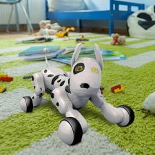 Intelligens robot kutya, dalmata kreatív és készségfejlesztő