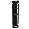 Intellinet Cat5e Wall-mount Patch Panel 12-Port, UTP black