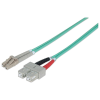 Intellinet optikai patch kábel LC-SC duplex 15m 50/125 OM3 multimode