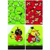 Interdruk Iskolai füzet-vegyes mintákkal-A5 60 lap Angry Birds vonalas <10db/cs