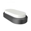 IP66 opál mennyezeti LED lámpa ovál (8 Watt) - hideg fehér