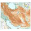 Irán domborzati falitérkép - GiziMap
