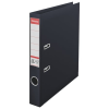 Iratrendező, 50 mm, A4, PP/PP, élvédő sínnel, ESSELTE Standard, Vivida fekete