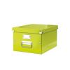 Irattároló doboz, A4, lakkfényű, LEITZ Click&Store, zöld