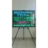 Írható világító LED tábla, 60X80 cm, fekete, plexi előlappal