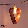 IRIS Szív alakú fém 240-07 meleg fehér led-es elemes fénydekoráció