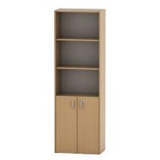 Irodai szekrény lakattal, bükk, TEMPO ASISTENT NEW 002 irodabútor