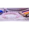 ISKOLAKEZDŐ tanulást segítő rózsakvarc / angyal aura / roppantott hegyikristály karkötő