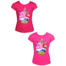 ismeretlen Super Wings: rövid ujjú póló - 128 méret, lányos, két színben
