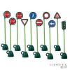 Italtrike 9 közlekedési tábla és 1 lámpa - KRESZ parkhoz