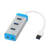 iTec i-tec USB 3.0 fém HUB, 3 Port Audio Adapterrel, Notebook Ultrabook Tablet