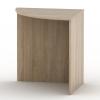Ívelt sarok asztal, sonoma tölgyfa, TEMPO ASISTENT NEW 024
