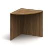 Ívelt sarok asztal, sötét bardolino, TEMPO ASISTENT NEW 024