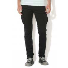 Jack Jones Jack&Jones, Paul Anti-Fit Cargo nadrág, Fekete, W29-L32 (12121351-BLACK-W29-L32)