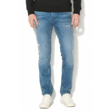 Jack Jones Jack&Jones, Tim slim fit szaggatott farmernadrág, Világoskék, W33-L34 (12138771-BLUE-DENIM-W33-L34)